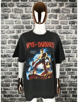 Army Of Darkness Vintage 90s T Shirt Horror Zombie Graphic Evil Dead Tee Shirt by Etsy