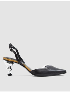 Lissom Heeled Sandal In Black/Mustard by Yuul Yie