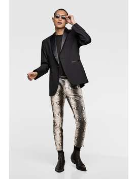 Faux Leather Snakeskin Printed Pants  Casual Pants Man by Zara