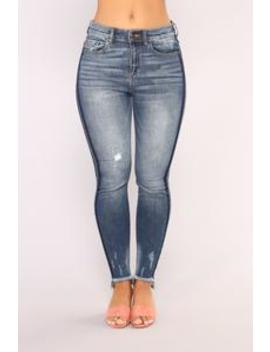 In The Shadows Ankle Jeans   Medium Blue Wash by Fashion Nova