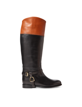 Sade Burnished Calfskin Boot by Ralph Lauren