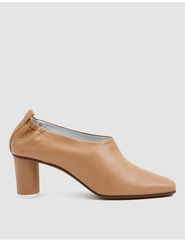 Micol Leather Pump In Camel by Gray Matters
