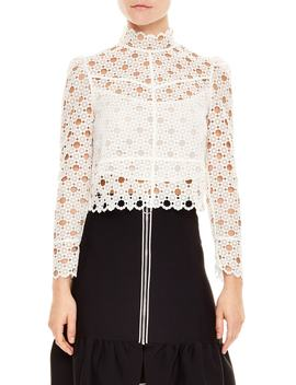 Crop Lace Blouse by Sandro