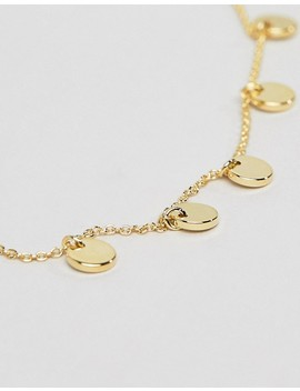 Orelia Gold Plated Circle Drop Detail Chain Bracelet by Orelia