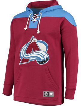 Nhl Men's Colorado Avalanche Breakaway Red Pullover Sweatshirt by Fanatics