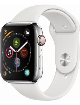 Apple Watch Series 4 (Gps + Cellular) 44mm Stainless Steel Case With White Sport Band   Stainless Steel by Apple