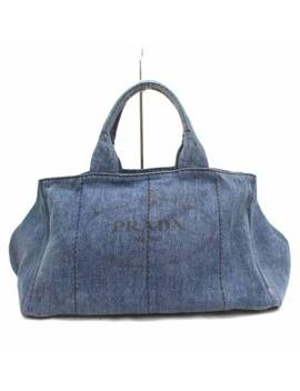Authentic Prada Tote Bag  Blue  277220 by Prada