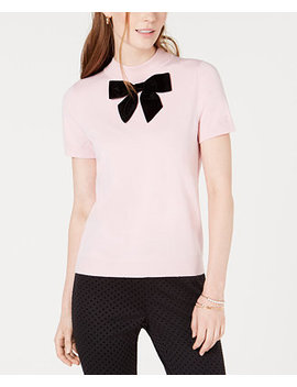 Bow Neck Sweater, Created For Macy's by Maison Jules