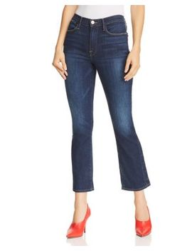 Le High Straight Leg Snap Hem Jeans In Meribel by Frame