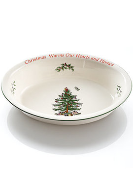 Christmas Tree Sentiment Oval Rim Dish, Created For Macy's by Spode
