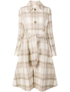A Line Checked Coat by Acne Studios