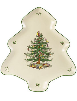 Serveware, Christmas Tree Shaped Platter by Spode