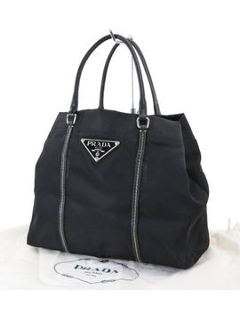 Authentic Prada Black Nylon Tote Hand Bag Purse #31144 by Prada