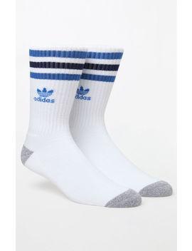 Adidas Roller Blue/Grey Crew Socks by Pacsun