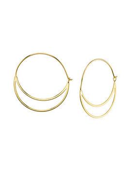 Double Hoop Earring In Sterling Silver by Unwritten