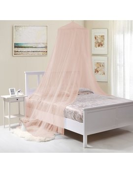 Kids Round Collapsible Wire Hoop Mosquito Net Bed Canopy by Fantasy Kids
