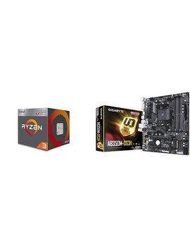 Amd Ryzen 3 2200 G Processor With Radeon Vega 8 Graphics And Evga 500 W1, 80+ White 500 W, 3 Year Warranty, Power Supply 100 W1 0500 Kr, Black by Amd