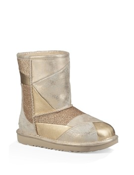 Classic Short Ii Metallic Patchwork Boot (Little Kid & Big Kid) by Ugg