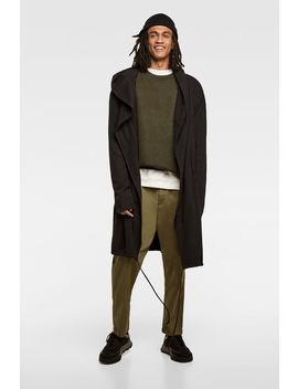 Hooded Asymmetric Cape Coat  Hoodies Sweatshirts Man by Zara