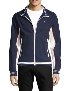 Stand Collar Colorblock Jacket by Tommy Hilfiger