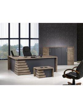 Orren Ellis Whitewood Modern 3 Piece L Shaped Desk Office Suite by Orren Ellis