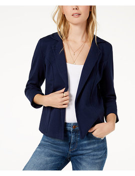 3/4 Sleeve Knit Blazer, Created For Macy's by Maison Jules