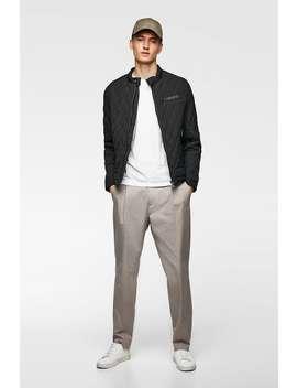 Padded Jacket With Trim  Puffers Jackets Man by Zara