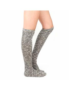 Wowfoot Women's Knee High Wool Socks Soft Warm Thick Thermal Girl Winter Cushion Crew Quarter by Wowfoot