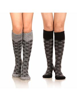 Do Smart Women's Winter Warm Knee High Socks Boot Socks 2 Pairs Multi Color by Do Smart