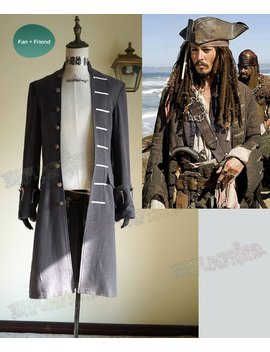 Pirates Of The Caribbean (Movie) Cosplay, Captain Jack Sparrow Trench Coat Costume by Etsy