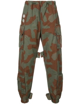 Camouflage Print Trousers by Off White