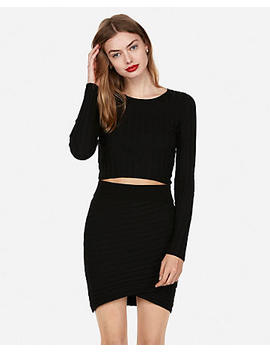 Wide Rib Wrap Mini Skirt by Express