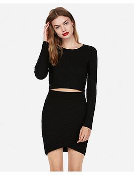 Wide Rib Wrap Mini Skirt by Express