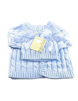 Baby Dove Newborn Cable Knit Cardigan & Beanie Gift Set by Baby Dove