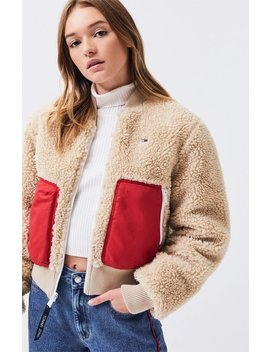 Tommy Jeans Reversible Sherpa Bomber Jacket by Pacsun