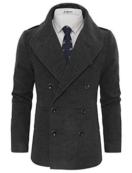 Tam Ware Men's Stylish Wool Blend Pea Coat by Tom27s+Ware