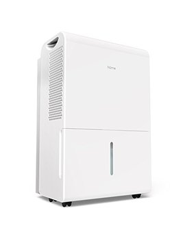 H Ome Labs 2500 Sq Ft Dehumidifier 50 Pint Energy Star Safe Mid Size Portable Dehumidifiers For Basements & Large Rooms With Fan Wheels And Drain Hose Outlet To Remove Odor & Allergens by H Ome Labs