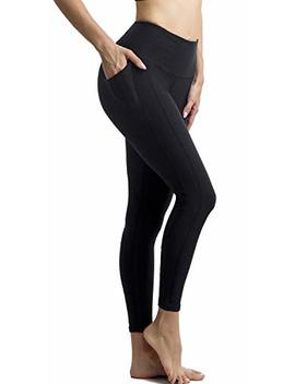 Persit Women's Premium Yoga Pants With Pockets, Non See Through Tummy Control 4 Way Stretch High Waist Leggings by Persit