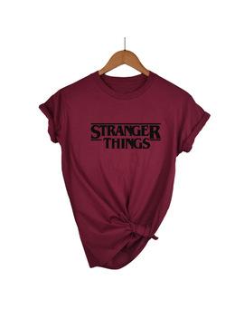 Stranger Things Ringer Tee Hipster Shirts Tumblr Graphic T Shirt Women Men Letter Print T Shirt Trendy Cotton Casual Tops by Hwythmxbbyjr