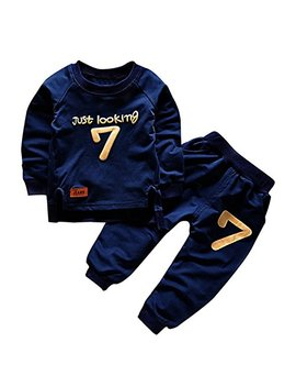 Puseky Toddler Baby Boys Girls Sweatshirt Tops+Pants Tracksuits Outfits Clothes by Puseky