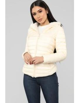 Emilia Puffer Jacket   Cream by Fashion Nova