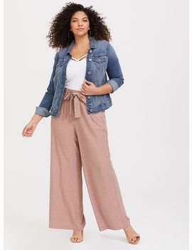 Dotted Crepe Wide Leg Pant by Torrid