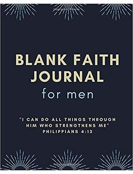 "Faith Journal For Men: Blank Composition Notebook Journal With Prompts: Large Faith Notebook 8"" X 10"" by The Big Journal Company"