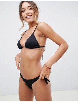 South Beach Mix And Match Ribbed Black Bikini by Asos Brand
