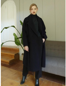 Handmade Wide Pocket Oversize Coat   Dark Navy by Le