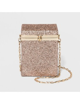 Box Minaudiere Clutch Crossbody Bag   A New Day™ Rose Gold by A New Day