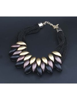 Necklace Jewelry Big Collares Mesh Cloth Woven Statement Necklaces & Pendants Choker Women Pendants For Gift Party Chunky Luxury by Ali Express