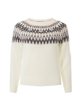 Petite Ivory And Pink Fairisle Jumper by Dorothy Perkins
