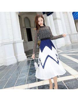 Glaypio   Mock Two Piece Color Block Dress by Glaypio