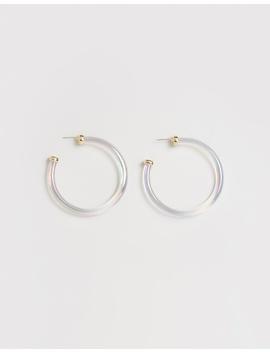 Leia Lucite Hoop Earrings by Bauble Bar